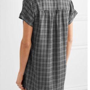 Madewell Plaid Flannel Short Dress